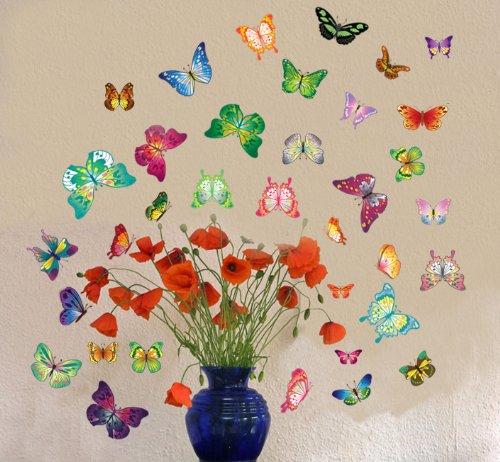 butterflies vase